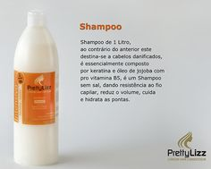 Repara os cabelos danificado, pontas duplas, não retirando o trabalho técnico, pintado ou com alisamento.Modo de utilização: Aplicar o s cabelos molhados massajar, enxaguar até retirar o completamente o champô.