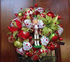 Whimsical Nutcracher Wreath by HertasWreaths on Etsy
