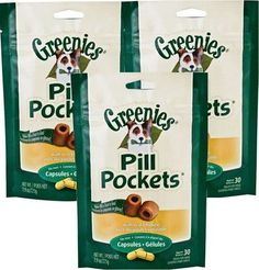 Greenies Dog PILL POCKETS Give Medication Easily 30 Ct Capsules CHICKEN 3 PACK