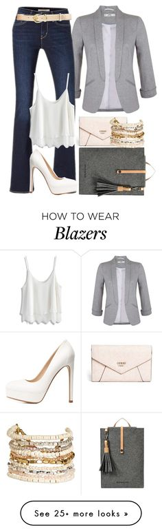 """Timeless blazer"" by christina-joann on Polyvore featuring Miss Selfridge, Levi's, Chicwish, GUESS, Sherpani, Charlotte Russe, Panacea and Lauren Ralph Lauren"