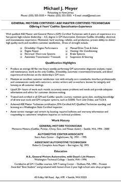 automotive mechanic resume automotive mechanic resume we provide as reference to make correct and good