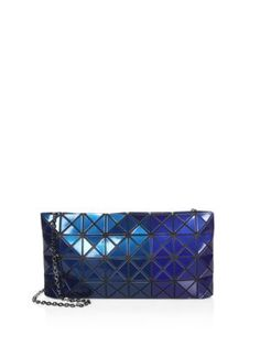 BAO BAO ISSEY MIYAKE Prism Metallic Chain Clutch. #baobaoisseymiyake #bags #polyester #clutch #metallic #shoulder bags #hand bags #nylon #