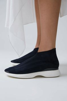 55ea00d56b Acne Studios Batilda Low blue/white are ankle length classic sock sneakers.