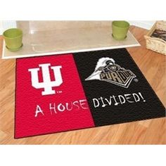 Indiana University Hoosiers House Divided Rivalry Rug