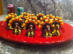 TURKEYS COOKIES! They were so easy to make!