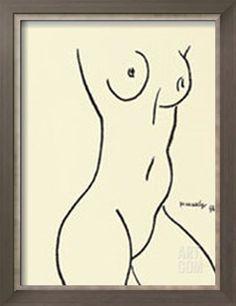 Nu, c.1952 Serigraph by Henri Matisse at Art.com