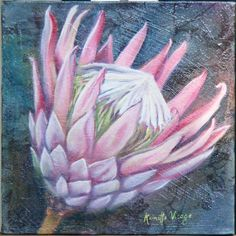King Protea by S.A. artist R. Visage Chalk Pastel Art, Chalk Pastels, Crafts With Pictures, Art Pictures, Protea Art, Abstract Flowers, Painting Flowers, South African Artists, King Art