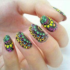 Nailart, Stamping Plates, Love Nails, Swag Nails, Manicure, Nail Designs, Nail Polish, Instagram Posts, Enamel