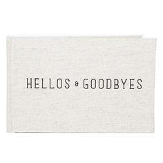 Hellos & Goodbyes Guest Book // whitesmercantile.com