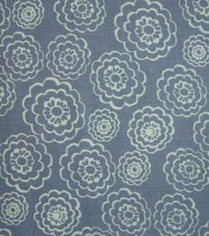 Keepsake Calico Fabric White Clouds On Gray