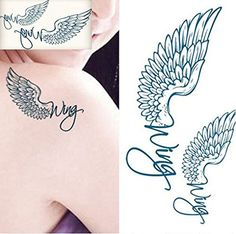 Temporary Angel Wings Tattoos Waterproof Body Arts Fake Tattoo Stickers. Brand New High quality.Waterproof and removeable ,Lasts 2 - 5 Days. Safe and non-toxic; Quick and easy to apply. Very good choice as temporary tattoo, body makeup, etc. Great for festivals, parties,weddings or a night out on the town~. Gorgeous, realistic tattoos for wrist, hand, finger, ear, ankle, leg, back, arm, collarbone, rib, neck, foot, & face.