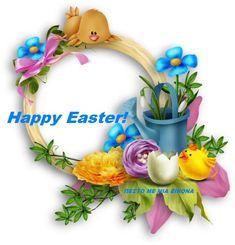 Εικόνες για καληνύχτα με λόγια -Η ψυχή μου σ ένα στίχο- Cute Frames, Happy Easter, Floral Wreath, Creations, Bunny, Clip Art, Wreaths, Blog, Crafts