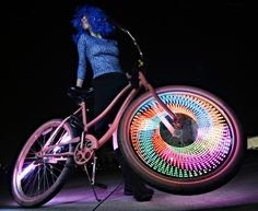 #LED #Bicycle - 'pimp' your ride with some impressive rims and other LED gadgets! Increase your road safety while making a lasting impression! www.ledluxor.com