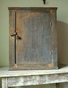 early blue cupboard. I want for a medicine cabinet please. & Primitive Wall Cupboard | Cabinets u0026 Cupboards | Pinterest | Wall ...