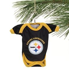 Pittsburgh Steelers Baby Shirt Ornament - Black