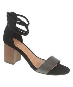 Black Rylan Leather Sandal