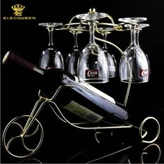 Wine Bottle and Wine Glasses Holder