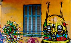 Wall graphics Thessaloniki, Daily Photo, Street Art, Neon Signs, Graphics, Wall, Painting, Beautiful, Beauty
