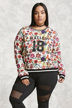 Plus Size Malibu Floral Top | Forever 21 - 2000207007