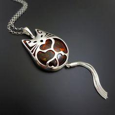 Kocur Biżuteria artystyczna » Wisiorki - cat pendant