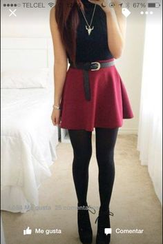 Falda color tinto