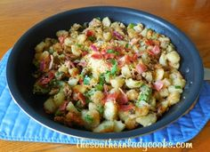 This recipe for Okra and Potatoes Supreme is a great easy side dish. I love okra and this is one of my favorite ways to prepare it for a meal. I love it for breakfast with a fried egg over the top...