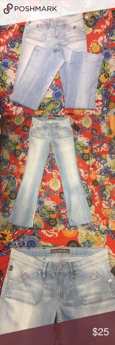 "Rock & Republic Jeans Sz 28 Rock & Republic Jeans Size 28 Inseam 32"" Waist 32"" Rock & Republic Pants Boot Cut & Flare"