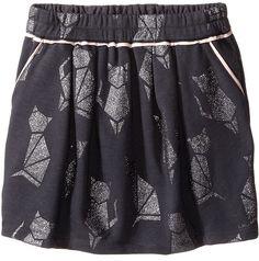 Little Marc Jacobs Cat Foil Print Fleece Skirt (Big Kids)