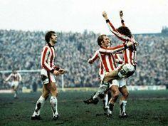 Stoke City - Manchester City at Victoria Ground 1975 Geoff Hurst, Jimmy Greenhoff, Alan Hudson