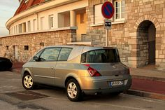Renault Avantime - what a strange car. It has coupe like appearance with only 3 doors, yet is big enough to be a minivan and on top of that it has a retractable roof which makes it something like a convertable.