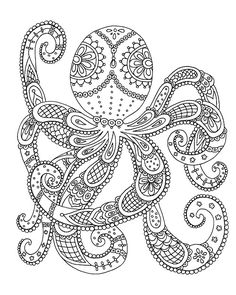 7 Best Octopus Images Coloring Pages Octopus Coloring Page