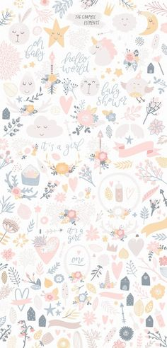 66 Ideas For Flowers Illustration Pattern Design Art Prints Iphone Background Wallpaper, Pastel Wallpaper, Aesthetic Iphone Wallpaper, Flower Wallpaper, Baby Wallpaper, Rabbit Wallpaper, Cellphone Wallpaper, Screen Wallpaper, Nursery Patterns
