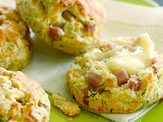 These biscuits bake up supremely tender and moist with a tiny bit of cornstarch and tangy buttermilk mixed into the dough. Flecked with cheese, ham, and herbs, they are a delicious, savory breakfast treat any day of the week. I like to break them apart and slather them with lots of butter. If you don't like the taste of dill, fresh chives would make a lovely substitute.