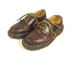 90s Doc Martens Brown Leather Shoes Womens UK 4 US 6 EUR 37