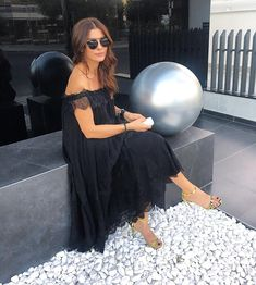 Out and about on Saturday Black Mode, Ramona Filip, Summer Nights, Fall Outfits, Lace Dress, Sexy Women, Celebrities, Instagram Posts, How To Wear