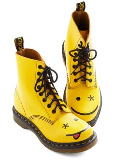 Happy Face Yellow Doc Martens