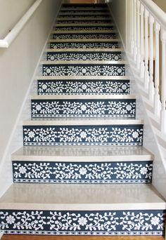 stair treads diy #stair (Painted stairs)