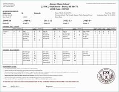 Free High School Transcript Template Pdf Simplistic 29 Images Of Template For Elementary School Transcript Request 10 Homeschool High School, Elementary Schools, Homeschooling, School Report Card, High School Transcript, Progress Report Template, College Counseling, Daily Progress, Nursery School