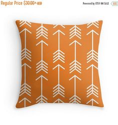 Hey, I found this really awesome Etsy listing at https://www.etsy.com/listing/237995792/on-sale-arrow-throw-pillow-cover-orange