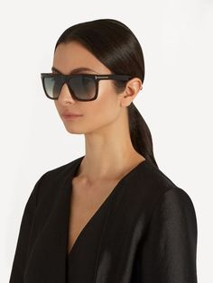 Tom Ford Eyewear Morgan flat-top sunglasses