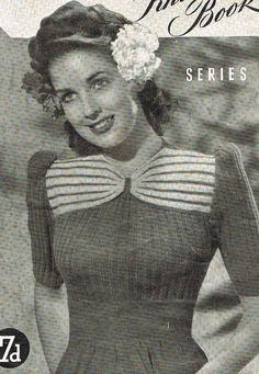 40s Aloha Sweater b32 b34 b36 vintage by VanessaLovesVintage, $1.99