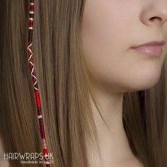 TOADSTOOL Clip in red hair wrap extension with charm Red and Summer Bracelets, Cute Bracelets, Loose Hairstyles, Scarf Hairstyles, Hair Tool Organizer, Black Brown Hair, Hair Wrap Scarf, Hair Color Streaks, Short Haircut Styles