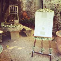Plan de table mariage chevalet plantes