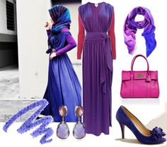 """Purple Hijab"" by strawberrymuslimah on Polyvore  I love wearing purple!!"