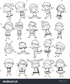 Find Hand Draw Children Positiveillustration Sketch stock images in HD and millions of other royalty-free stock photos, illustrations and vectors in the Shutterstock collection. Kid Character, Character Drawing, Character Design, Drawing School, Drawing For Kids, Sketching For Kids, Family Drawing, Illustration Sketches, Illustrations