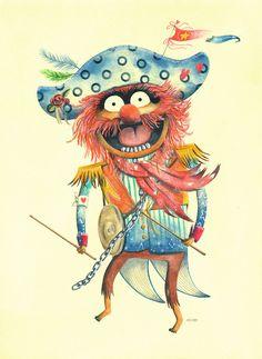 插画师Maryanna Hoggatt的可爱小动物插画作品