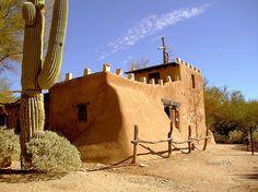 "DeGrazia 067 - Mission in the Sun  The Chapel at The ""DeGrazia Gallery In The Sun"", a Legendary Landmark of Art & Architecture ... located in Tucson, Arizona."