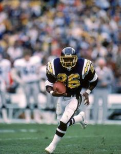 """Lionel """"Little Train"""" James, at just 5'6″ and 170lbs he beat the odds to play at the top level in the NFL for the San Diego Chargers from 1984-1988."""
