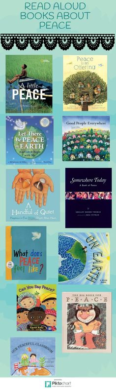 Today more than ever we need quality books for young children about peace.  Here are a few good read alouds for the classroom.