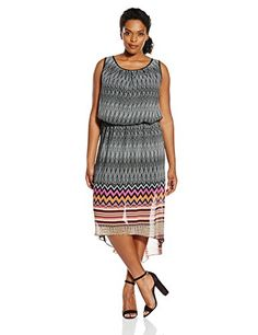 Single Dress Womens Plus Size Emerie High Low Dress BlackMulti 2X -- To view further for this item, visit the image link. #TopsandTees